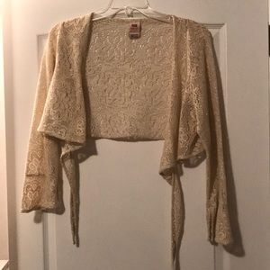 Sheer gold shrug - Size 18/20W